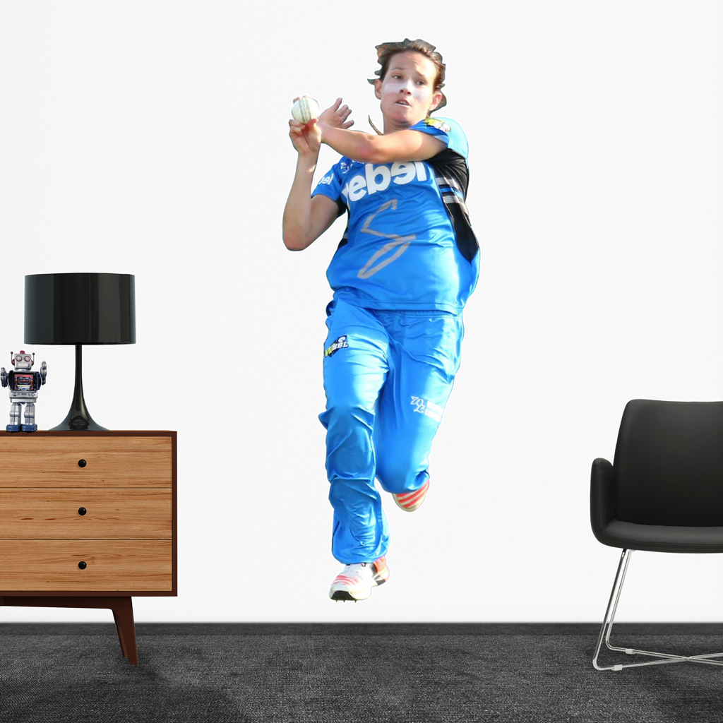 Megan Schutt Bowling for the Adelaide Strikers Popout Decal