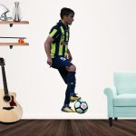 Asdrubal Pardon playing football for the Central Coast Mariners Popout decal on a wall
