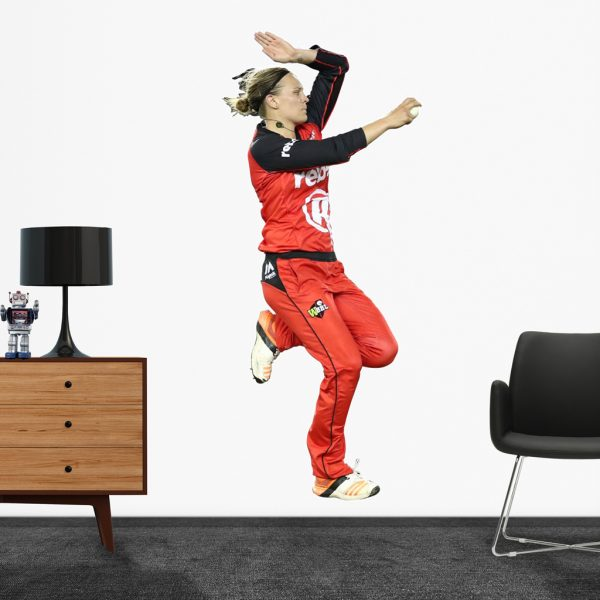 Lea Tahuhu bowling for the Melbourne Renegades Popout decal