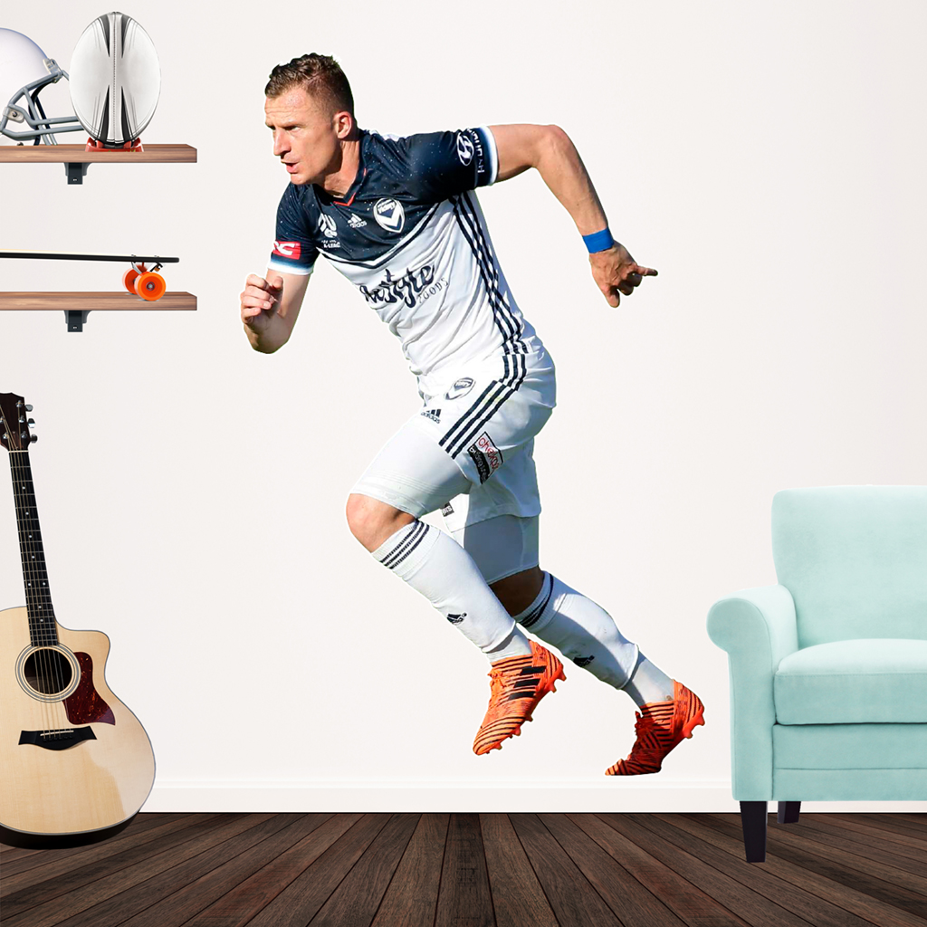 Besart Berisha playing football for Melbourne Victory Popout Decal on a wall