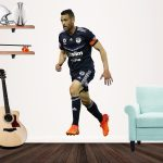 Carl Valeri playing football for Melbourne Victory Popout Decal on a wall