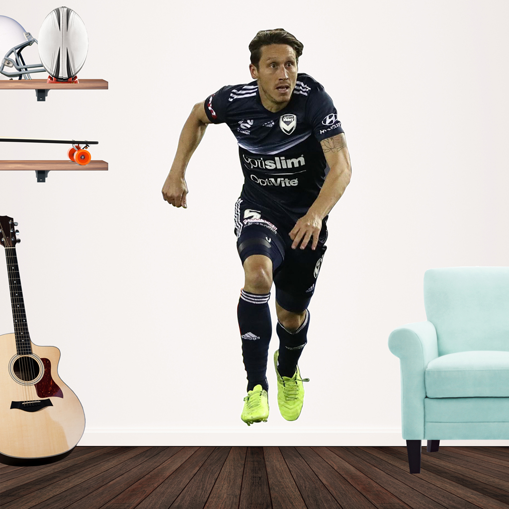 Mark Milligan playing Football for Melbourne Victory Popout decal on wall