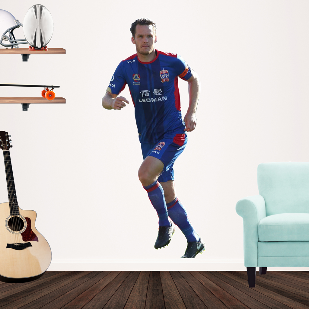 Nigel Boogaard playing Football for the Newcastle Jets Popout Decal