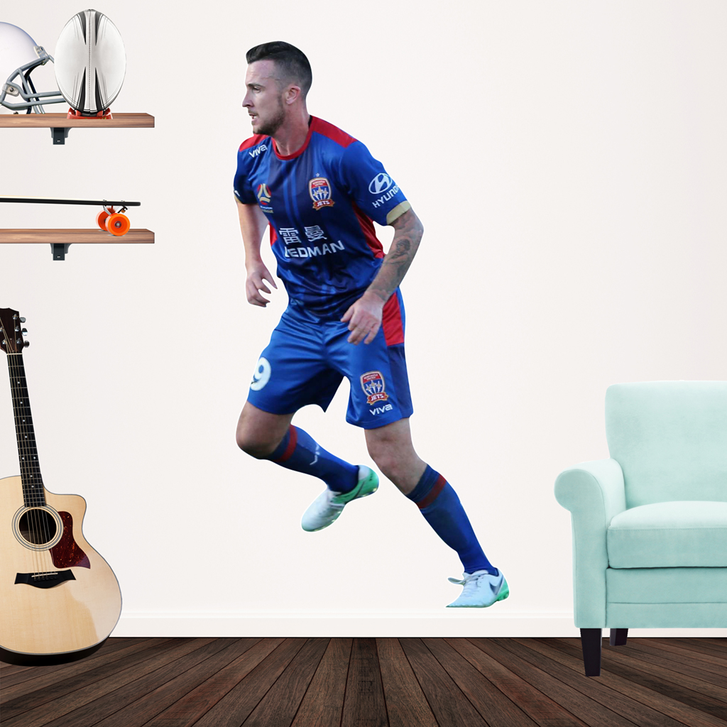 Roy O'Donovan playing Football for the Newcastle Jets Popout Decal