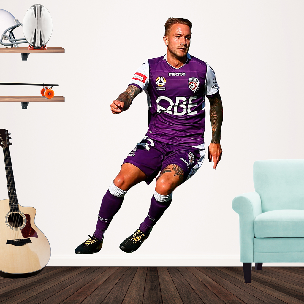 Adam Taggart playing Football for Perth Glory Popout decal on wall