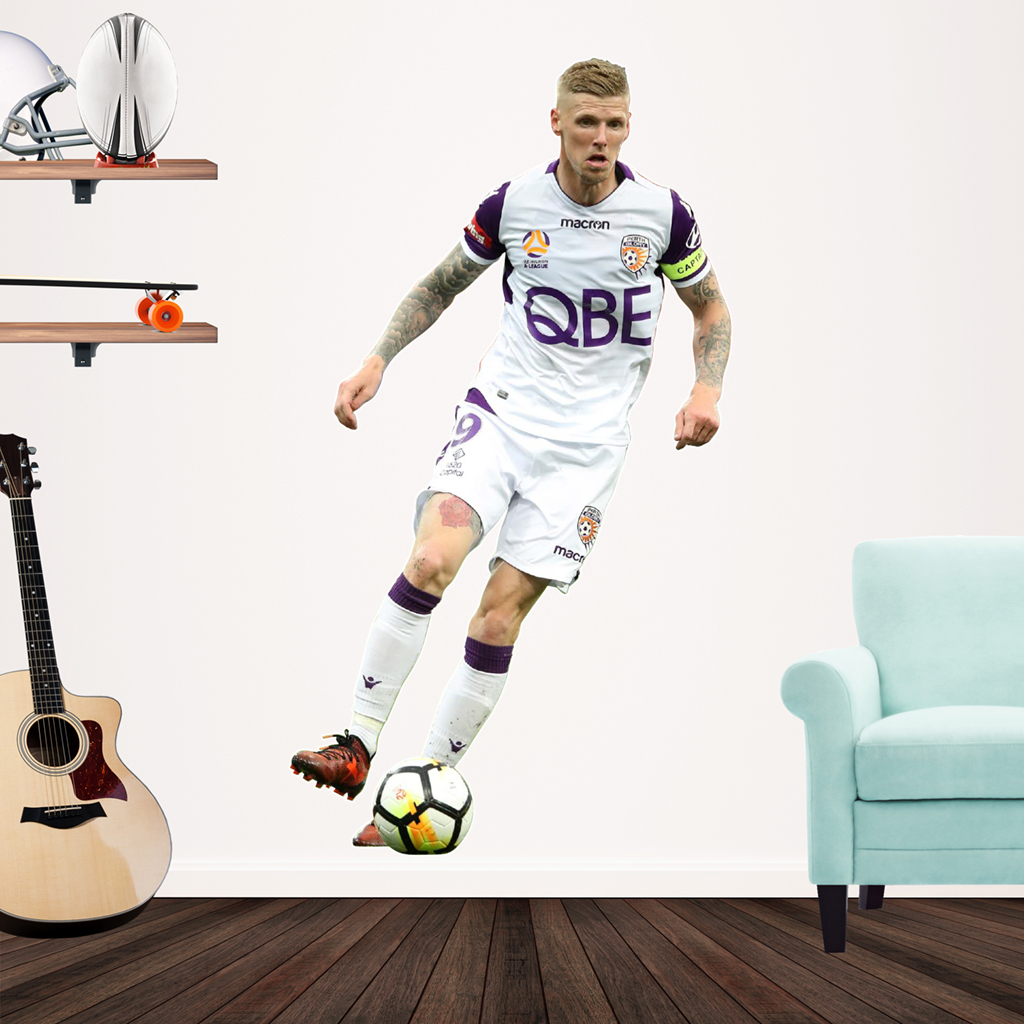 Andy Keogh playing Football decal