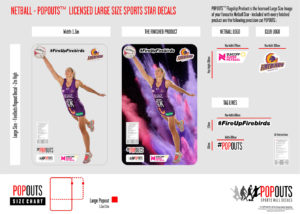 Popouts Netball Product Sample Large