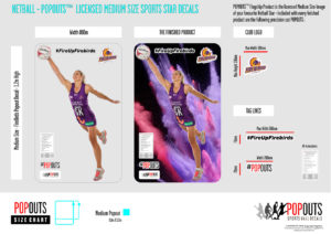 Popouts Netball Product Sample Medium