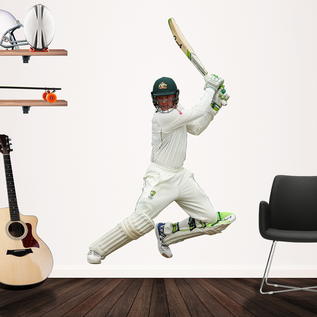 Peter Handscomb playing cricket Popout decal on the wall