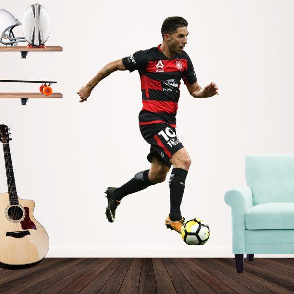 Alvaro Cejudo playing football Popout decal