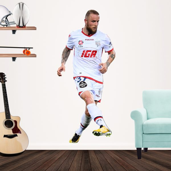 Daniel Adlung playing Football for Adelaide United Popout decal.