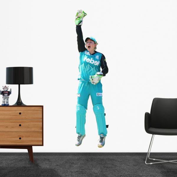 Beth Mooney playing cricket for Brisbane Heat Popout Decal