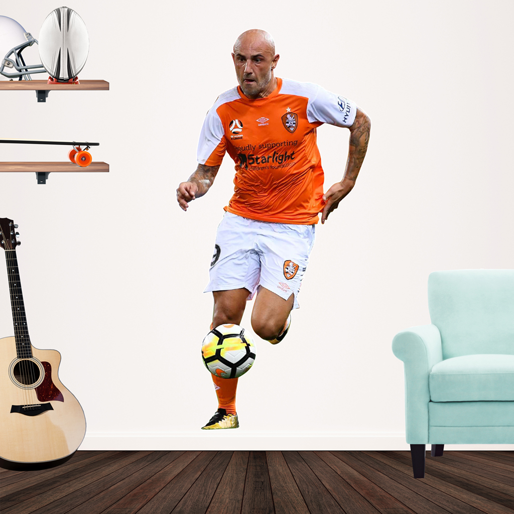 Massimo Maccarone playing Football for the Brisbane Roar Popout decal.