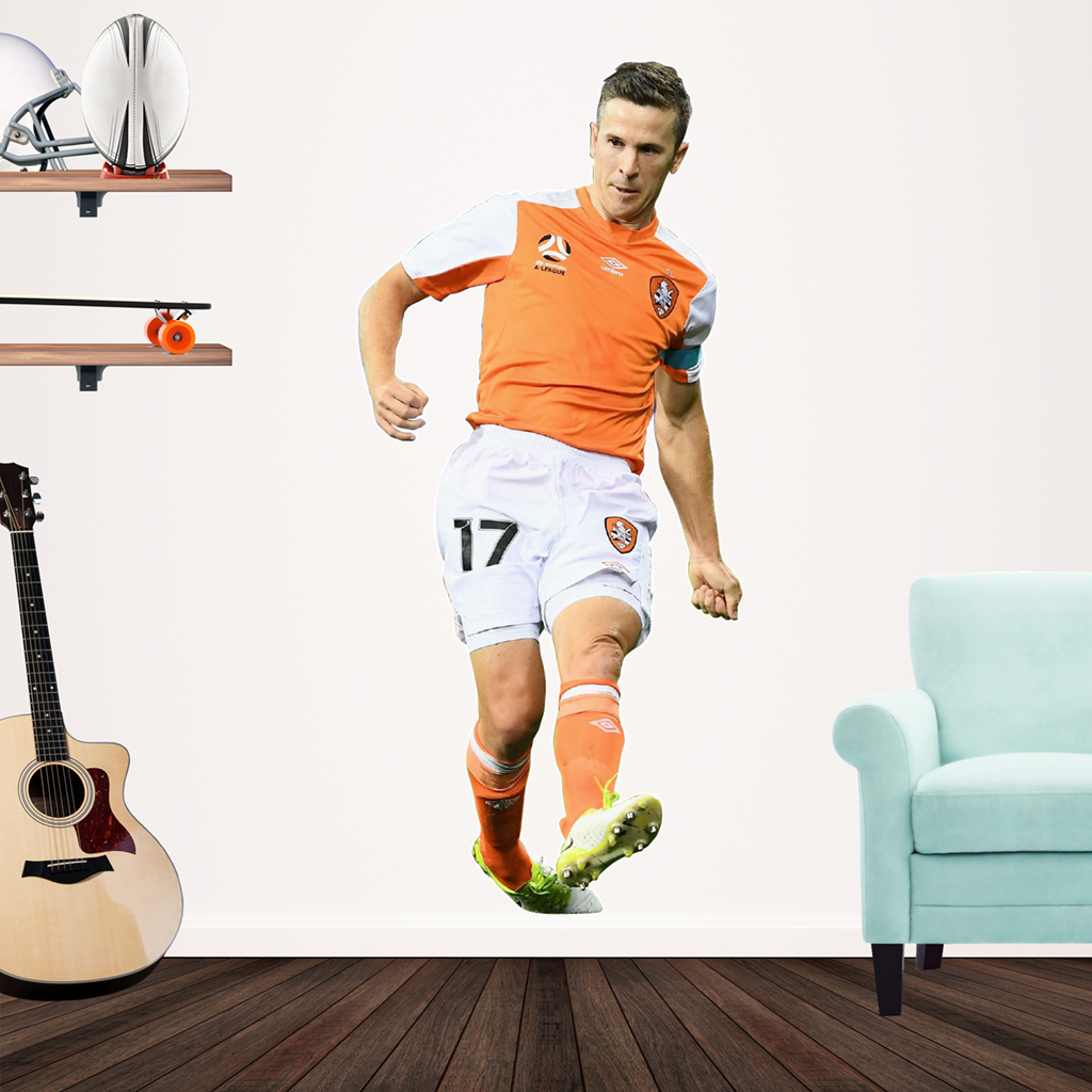 Mathew McKay playing Football for the Brisbane Roar Popout decal.