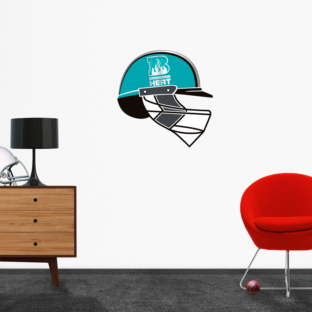 Brisbane Heat Helmet Popout decal