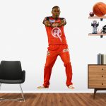 Dwayne Bravo playing in the BBL for the Melbourne Renegades Popout decal.