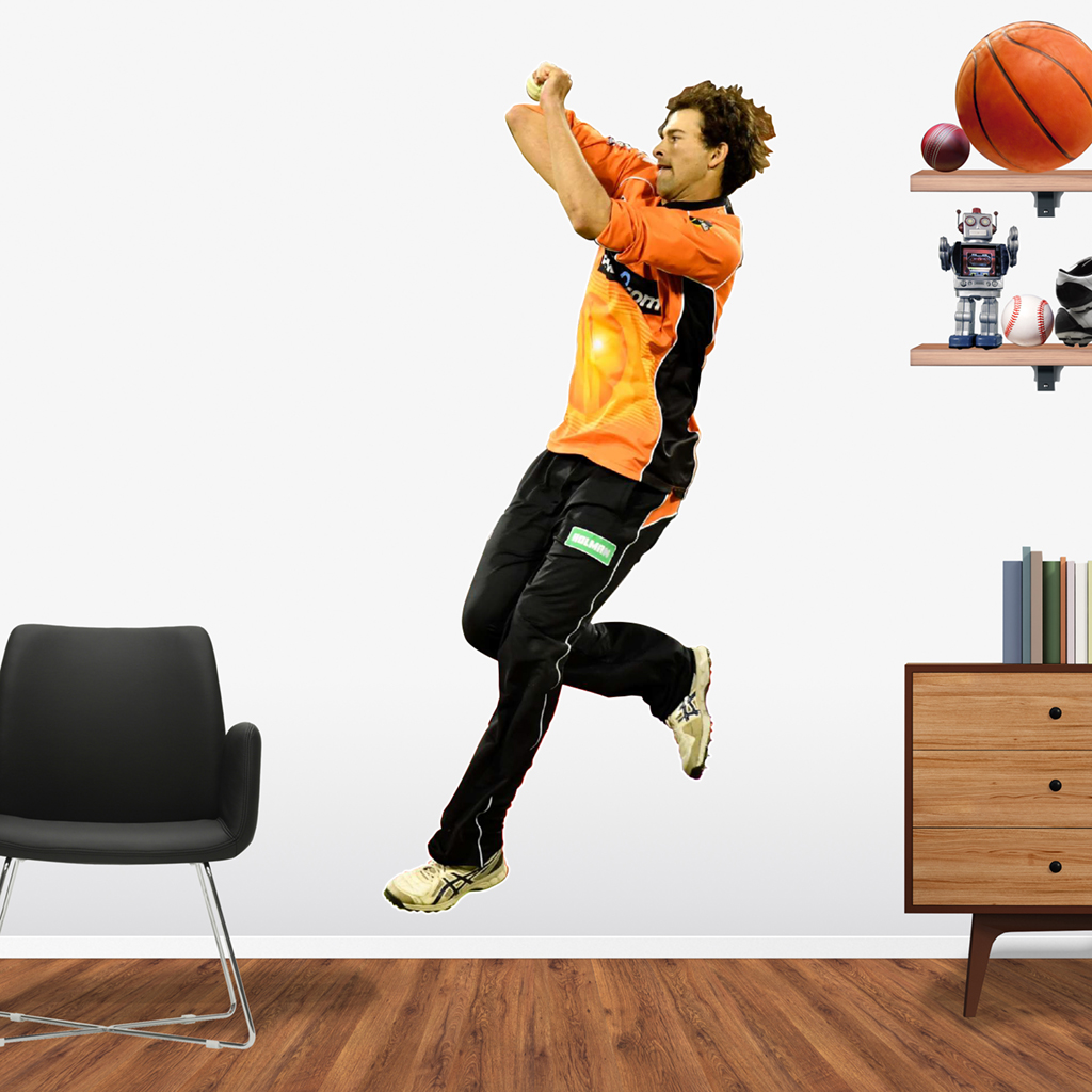 Ashton Agar playing in the BBL for the Perth Scorchers Popout decal.