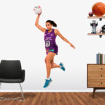 Jemma Mimi Playing Netball for Brisbane Firebirds Large Popout decal