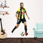 Andrew Durant playing football for the Wellington Phoenix - Popout Decal