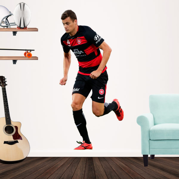 Oriol Riera playiong A league football for the Wanderers Popout Decal